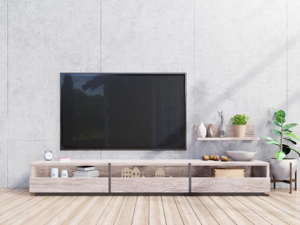 tv-meubel van hout